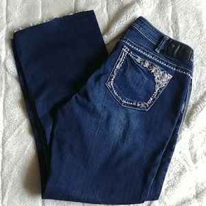 Silver Tuesday boot cut jeans Size 14 Dark wash